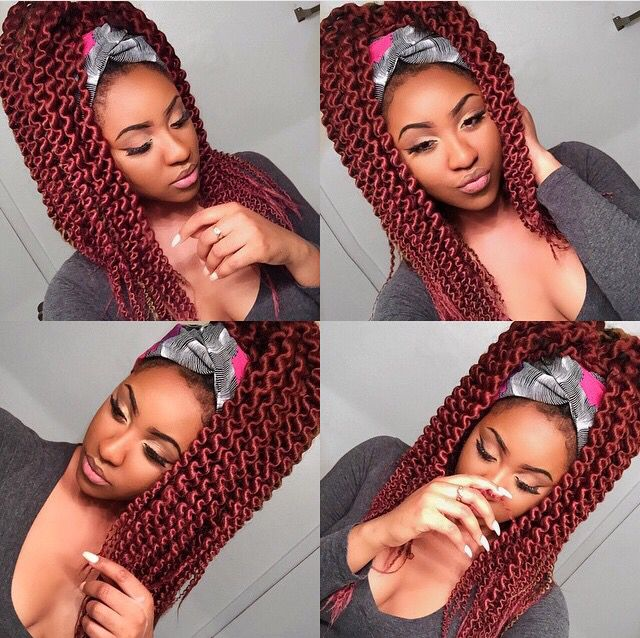 Twist Out On 100 Kanekalon Hair Hair Styles Natural Hair Styles Kanekalon Hairstyles