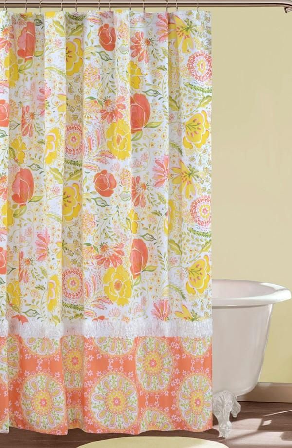 Dena Home Meadow Shower Curtain With Images Floral Shower