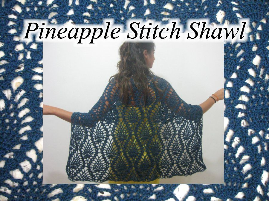 Here you can Learn how to Crochet with the Pineapple Lace Stitch Shawl. By Meladora's Creations Free Crochet Patterns and Video Tutorials.