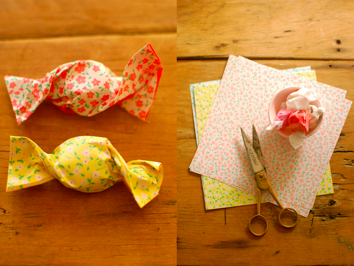 wrapped these little taffy candies in them its an easy