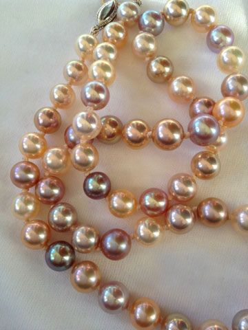 Metallic Freshwater Pearl Necklace