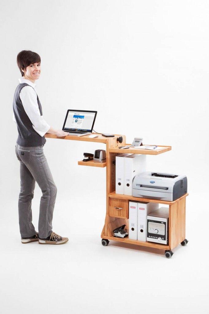 Labobo® - stehend mobil arbeiten - Laptop Tisch zum stehend und mobil arbeiten