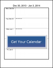 Printable Calendar Templates  Cooking On A Budget