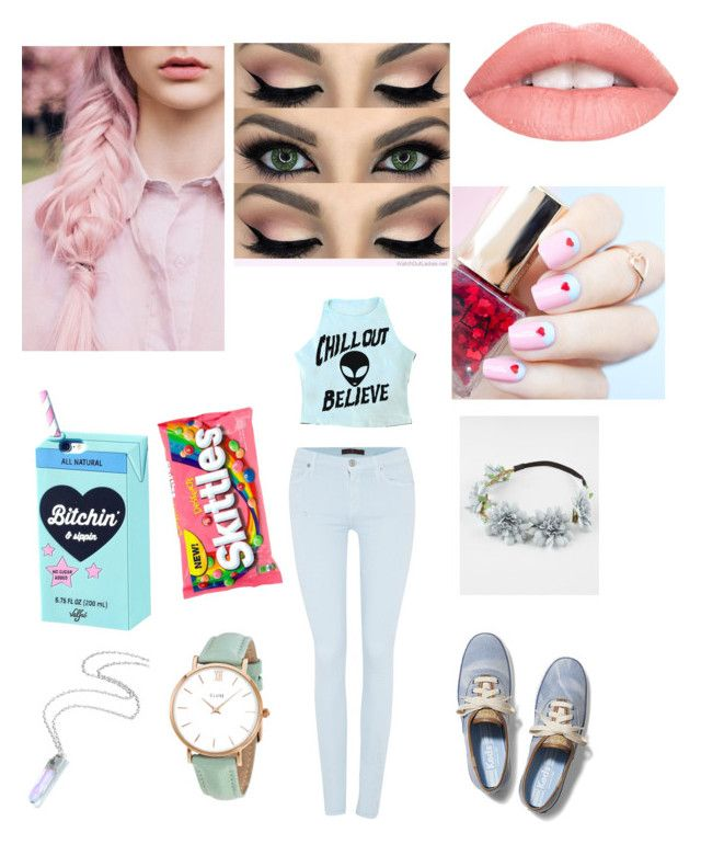 """Pretty in a Pastel"" by justabbi on Polyvore featuring 7 For All Mankind, Full Tilt, Keds, CLUSE and ncLA"