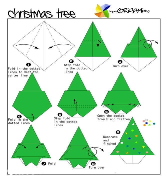 origami christmas decorations for kids