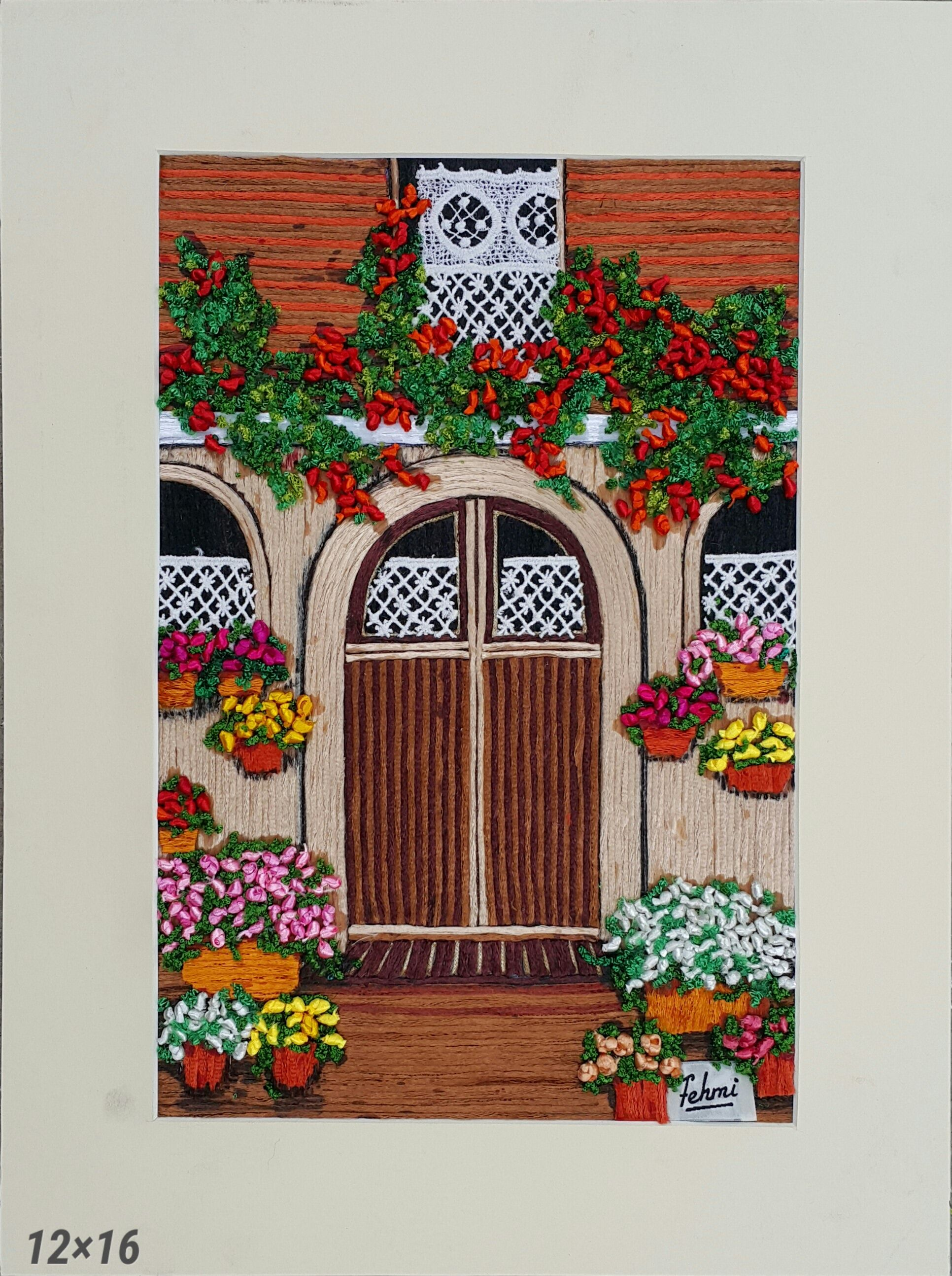 The brown door by fehmius art price rs elegant wall art