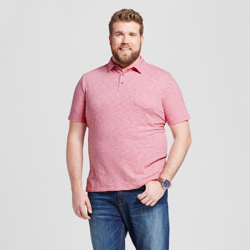 Mens Polo Shirt Formal Pink 3xb Tall Mossimo Supply Co Comfort
