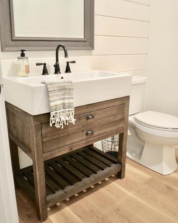 15 Awesome Bathroom Vanities Gray Bathroom Vanities 30 Inch With Sink Furniturejati Bathroom Vanity Remodel Bathroom Farmhouse Style Small Farmhouse Bathroom