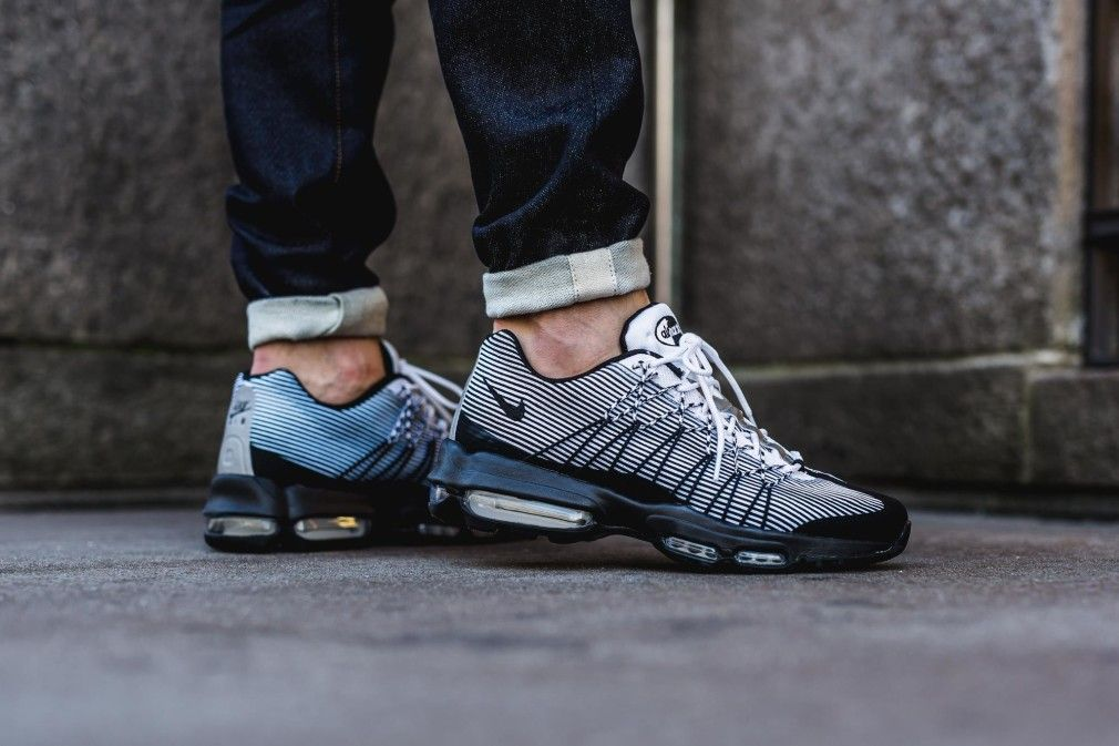Nike Air Max 95 Ultra Jacquard Black/White | Sneakers Addict™