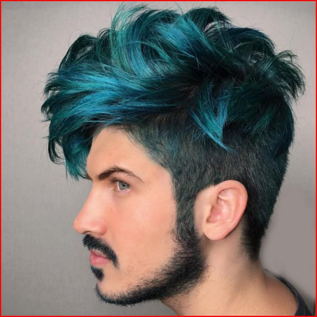 Turquoise Green Hair Color Blue Ombre Hair Men Hair Color