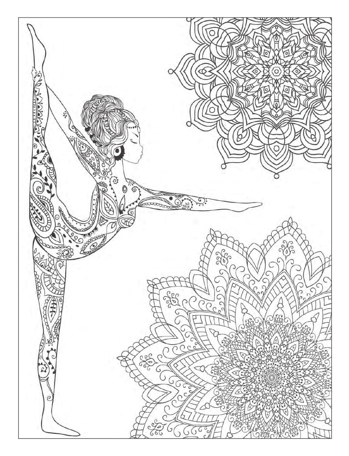 Yoga And Meditation Coloring Book For Adults With Poses Mandalas By Alexandru Ciobanu