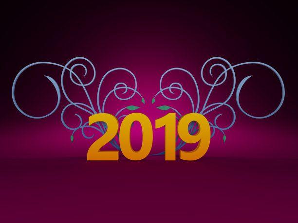 Dark Purple New Year 2019 Wallpaper Bg  Happy New Year 2019