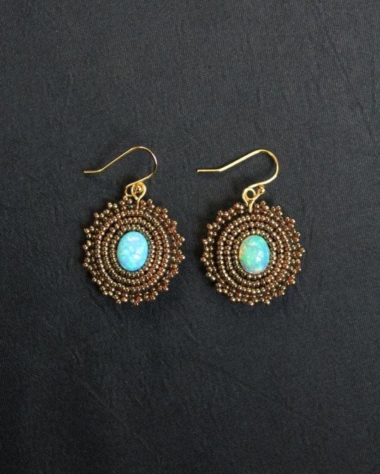 Ethiopian Opal Earrings www.fariasiddiqui.com