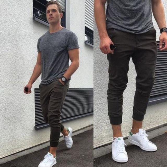 Tênis masculino e calça jogger: combinações streetwear para