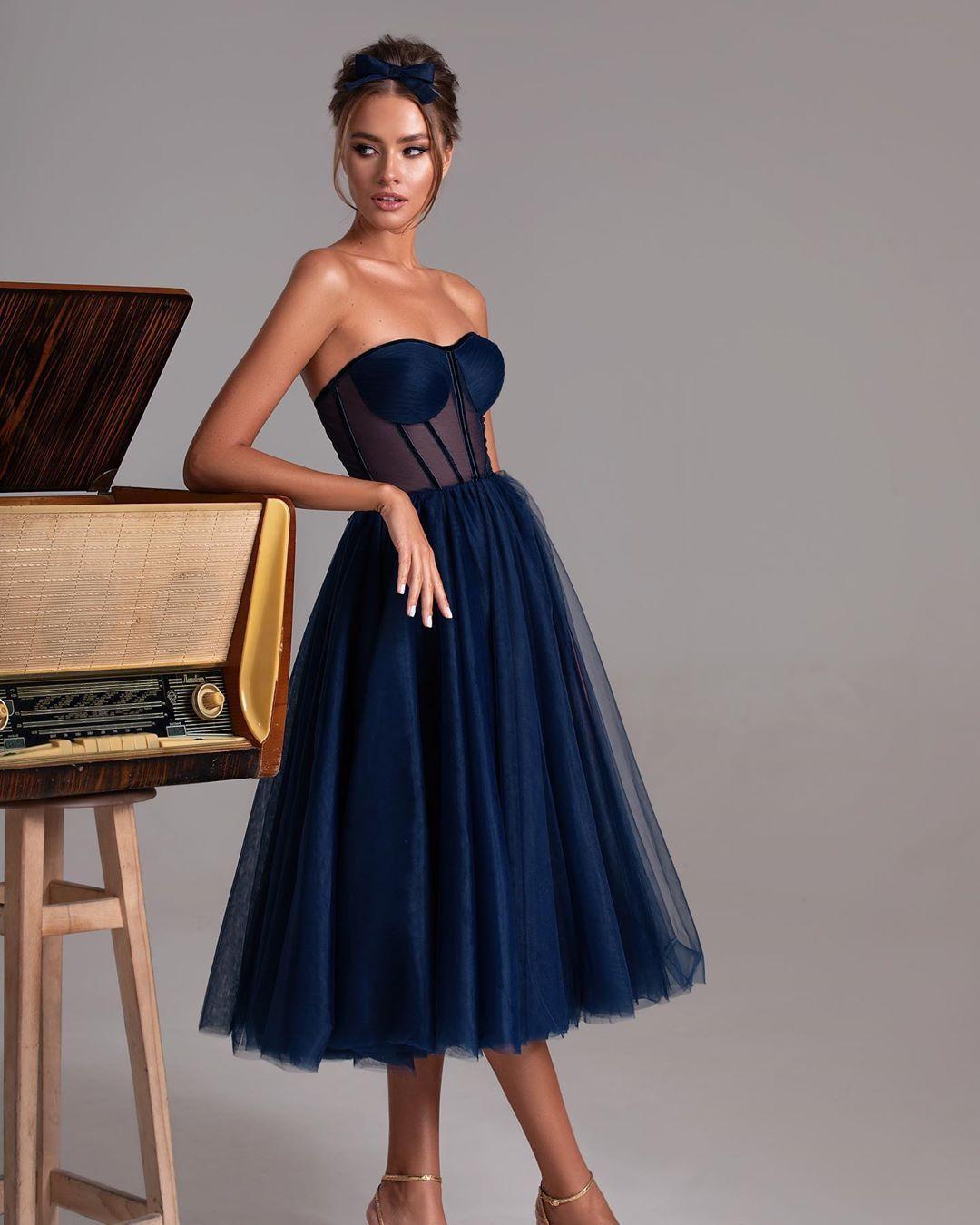 Elegant Party Dresses for Bustier