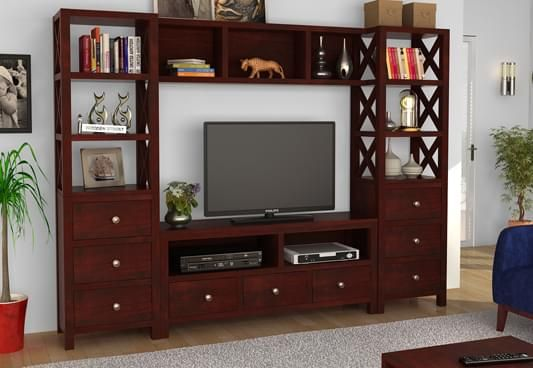 Buy  Pippin  Tv  Unit  Mahogany Finish  online in India at best prices from  Wooden Street  Browse our adorable collection of  storage  furniture with  latest. Buy  Pippin  Tv  Unit  Mahogany Finish  online in India at best