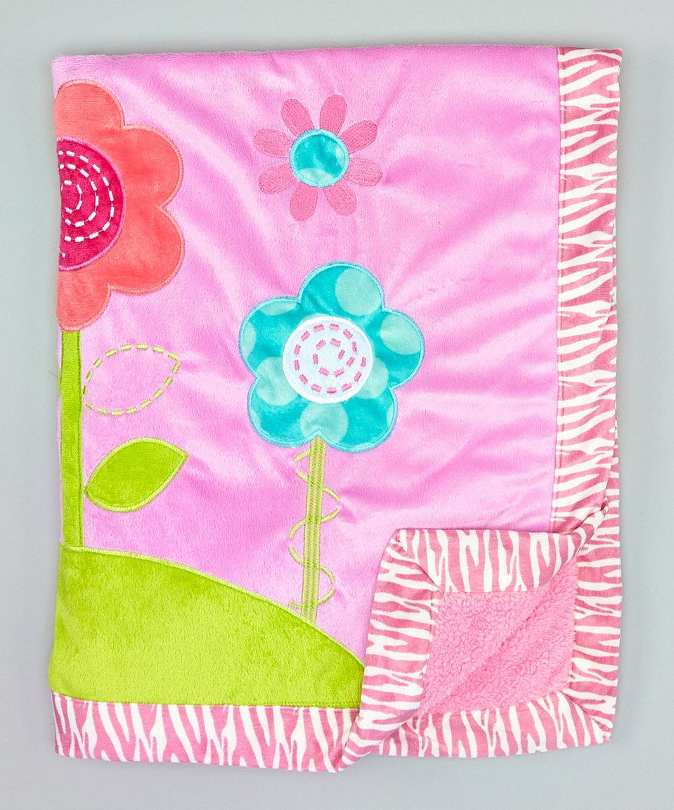 Find this Pin and more on Baby & Kids. Little Beginnings x Pink Flower  Embroidered Sherpa Blanket