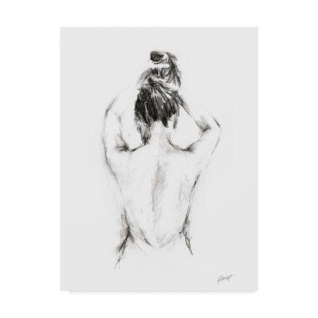 Trademark Fine Art Back Study I Canvas Art by Ethan Harper Black