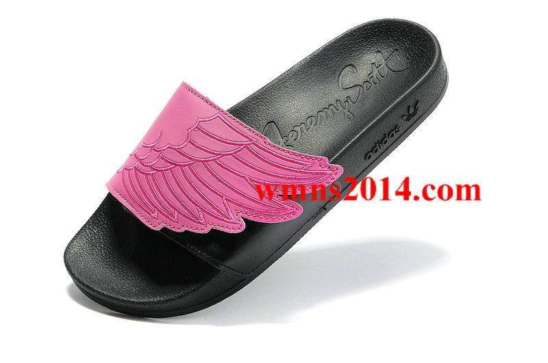 5988e1010037 Jeremy Scott Wings Adilette Sandal Hot Pink Black G43855