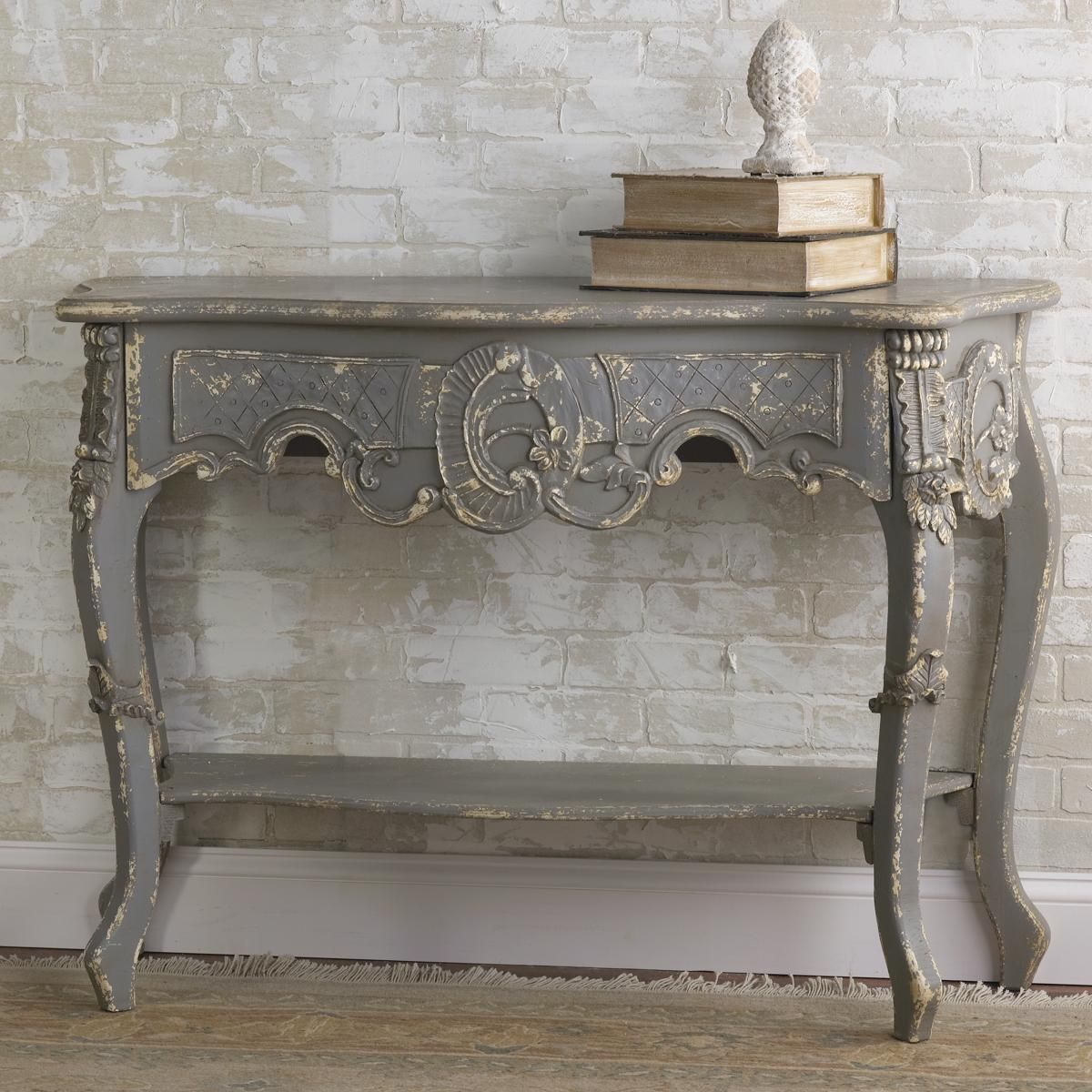 Vintage French Gray Console Table Gray Console Table Decor Furniture