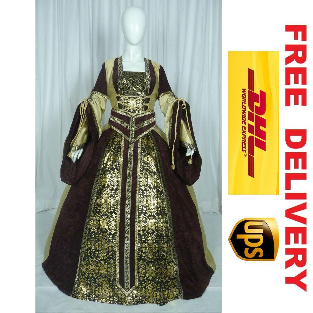 Medieval renaissance tudor wedding handfasting larp gown dress ...
