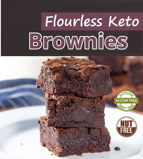 Nut Free & Flourless Keto BROWNIE | Free from Sugar, Coconut, Gluten & Grain - Diet Plus 4 U