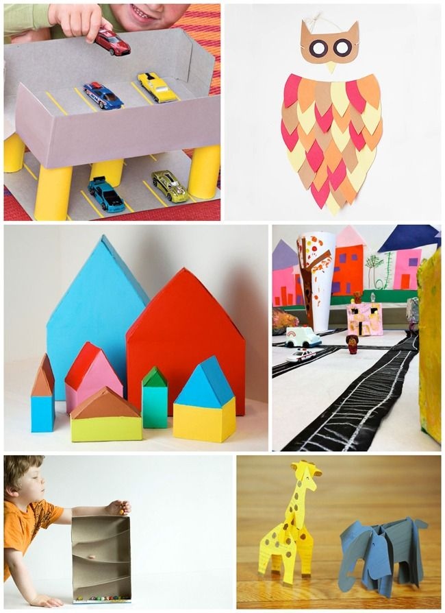 creative and clever crafts made out of just cereal boxes