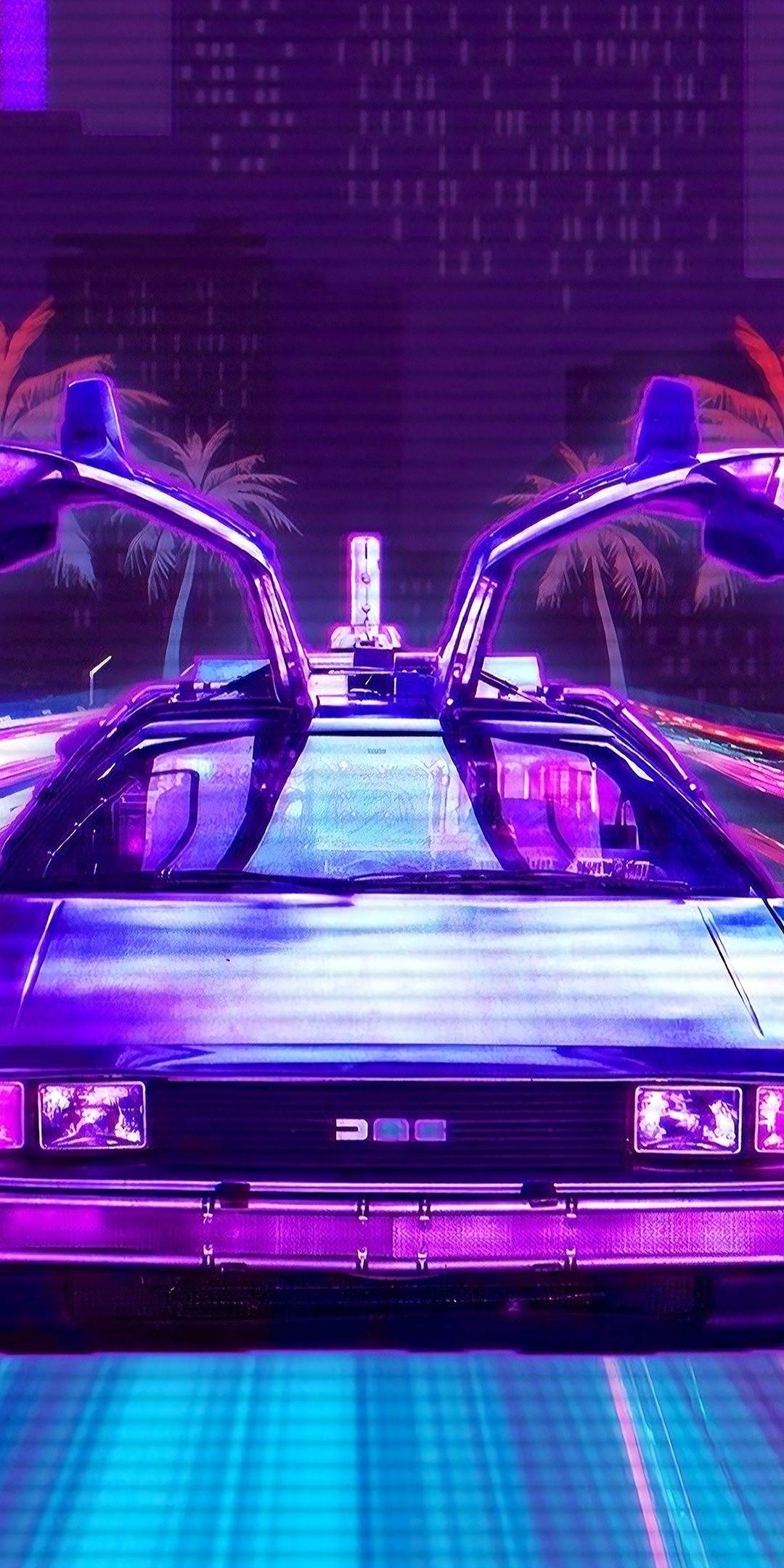 Retro Lux Cars Outdrive Retrowave 1080x2160 Wallpaper Retro Waves Retro Futurism Retro Graphic Design
