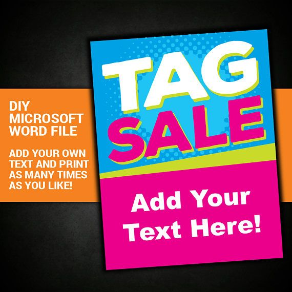 Tag Sale Yard Sale Garage Sale Sign Community Sale Etsy Tag Sale Sign Garage Sale Signs For Sale Sign