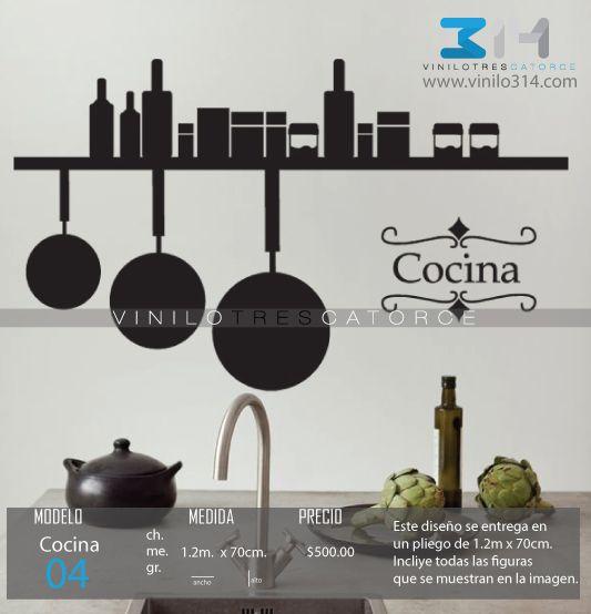 Vinilo 3 14 vinilos decorativos utensilios de cocina for Utensilios decoracion cocina