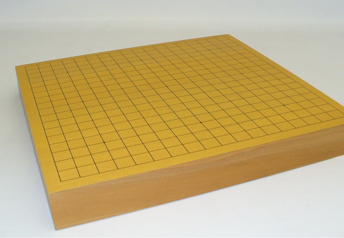 """Ship this hefty Go board via Free Ground Shipping this holiday season! 18"""" Agathis Thick Solid Wood Go Board, among our best of the best Go Boards, thick & solid and ready for years of play! 18"""" Agathis solid wood board is 18"""" x 16.25"""" x 2.25"""" high. http://www.thegamesupply.com/go-board-games #goboardgames #freeshipping"""