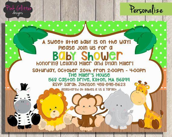 Jungle Baby Shower Invite Jungle Baby Shower Invitation Jungle