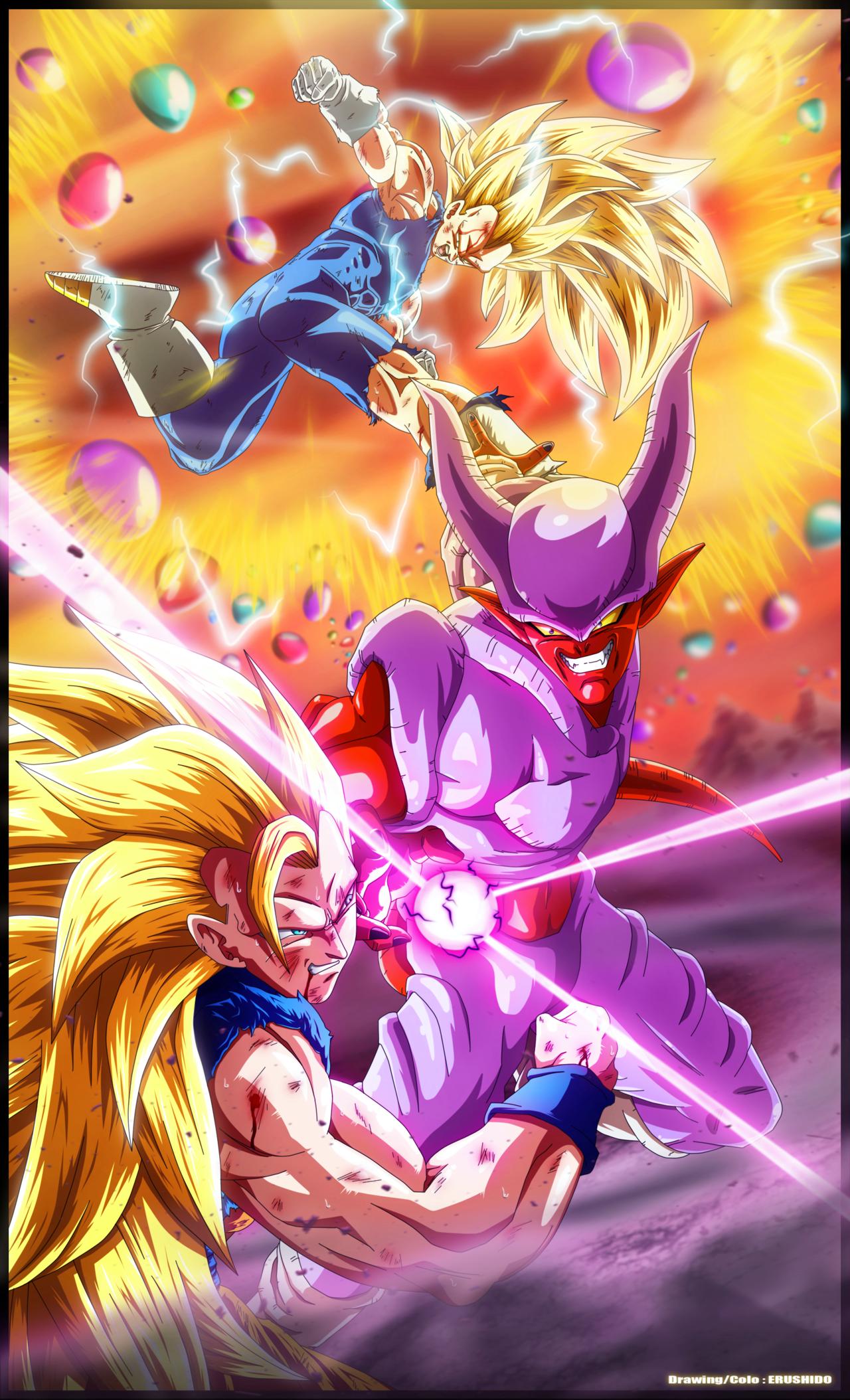 Heroes Evolved Hd Wallpaper Janemba Vs Sayans 3 By Erushido Dragon Ball Dragon