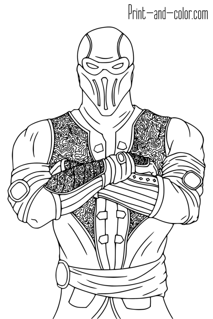 Mortal Kombat Coloring Pages Coloring Pages Mortal Kombat Art