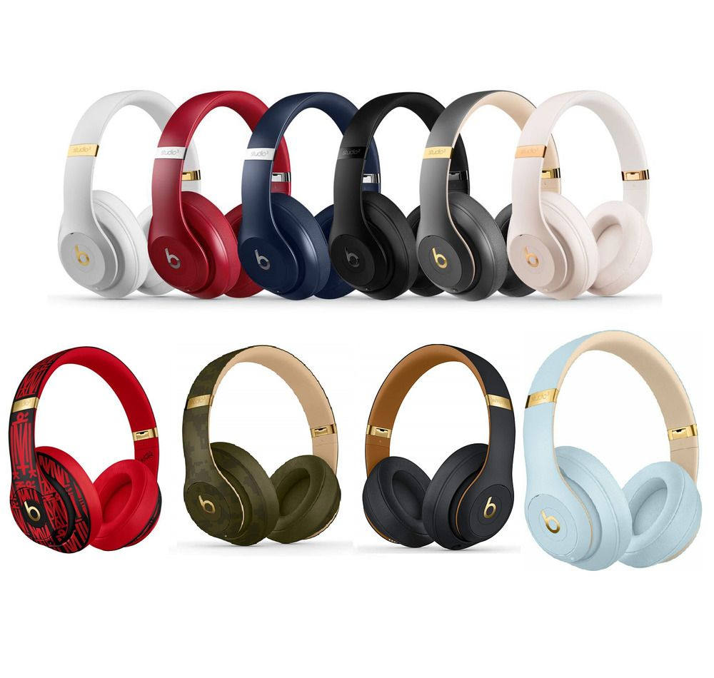 Beats By Dre Studio 3 Wireless Over Ear Headphones Matte Black White Blue Gold Beatsbydrdre In 2020 In Ear Headphones Bluetooth Headphones Headphones