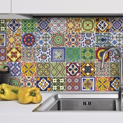Talavera Tile Decals Pack Of 48 Tile Decals Splashback Tiles