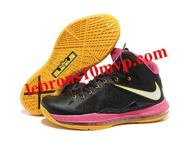 Nike Zoom Lebron 10(X) Shoes Black/Pink/Yellow