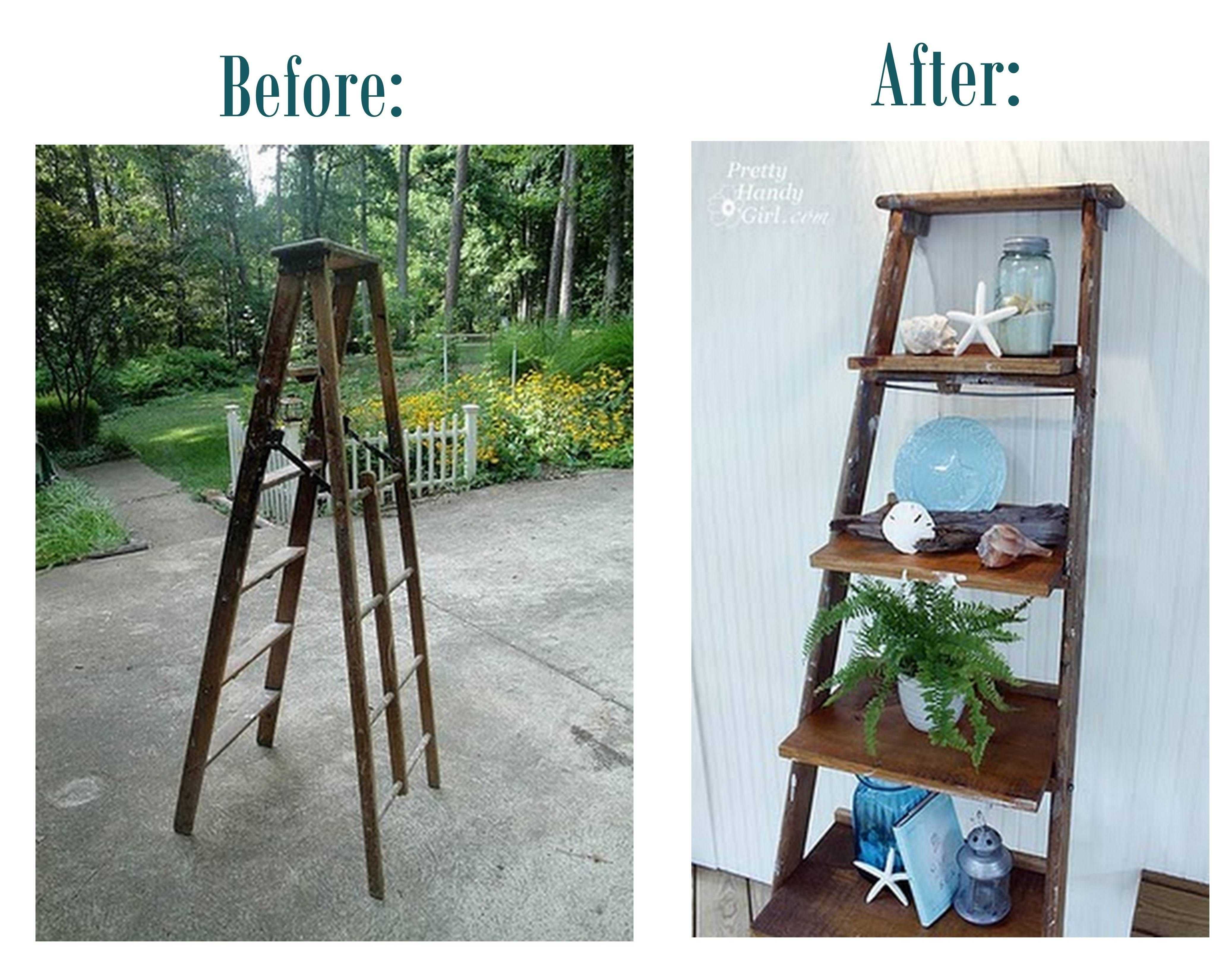 Centsational Girl » Blog Archive Guest Post: How To Build Ladder Shelves    Centsational Girl