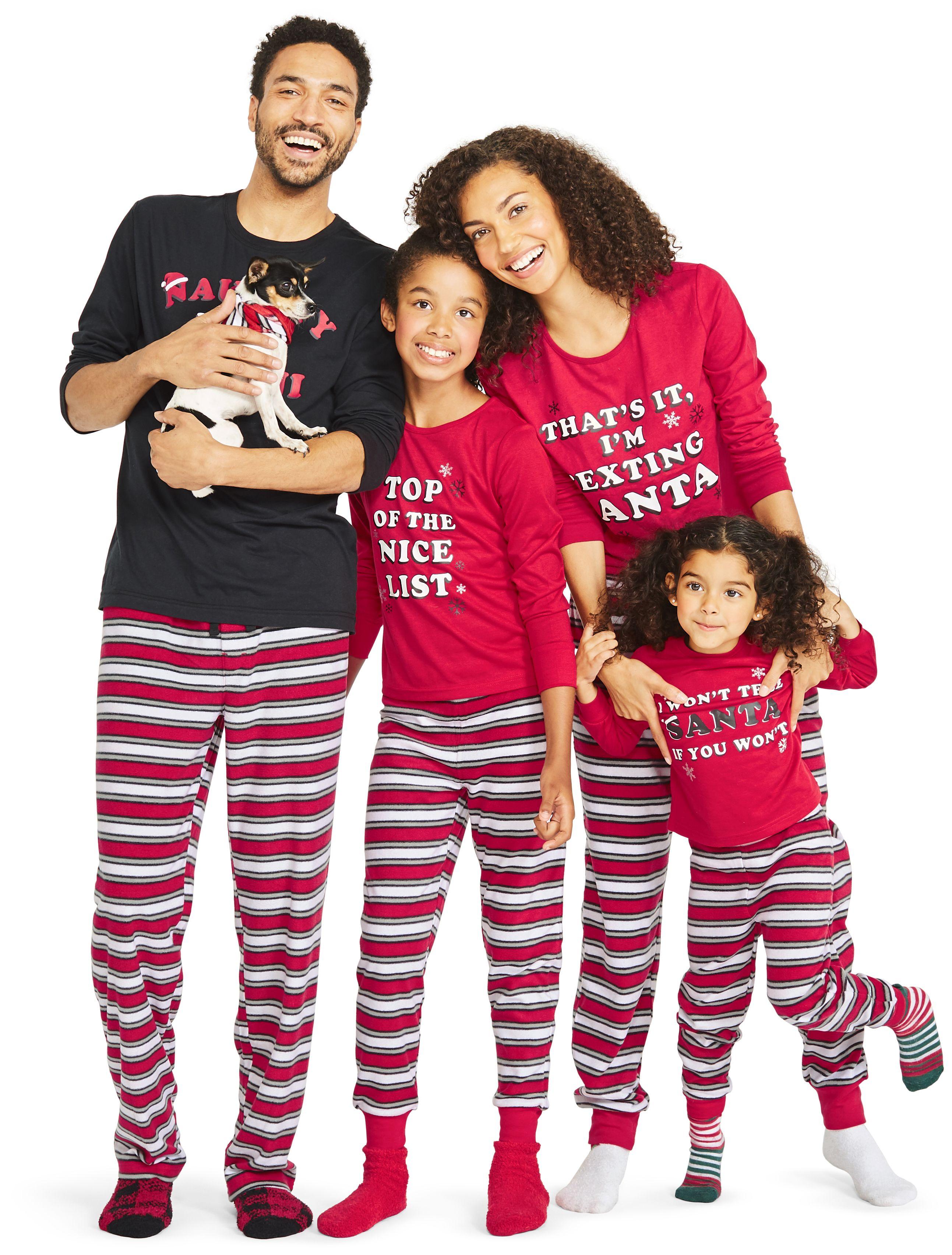 JV Apparel Women's Holiday Family Pajamas Naughty L