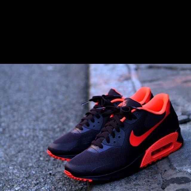 Nike Air Max 90 Hyperfuse Wine Red Orange White Shoes