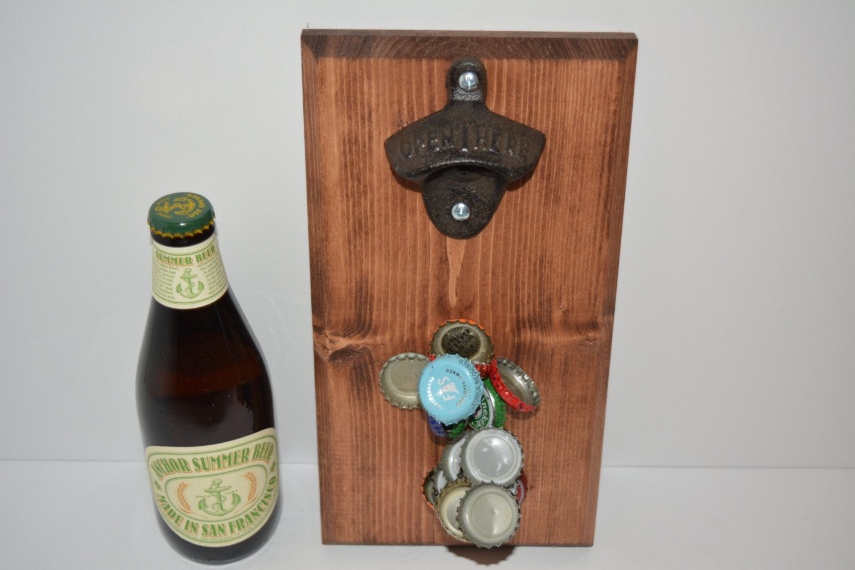 magnetic bottle opener bottle opener magnetic bottle magnetic opener wood bottle opener wooden bottle cap catch - Magnetic Bottle Opener