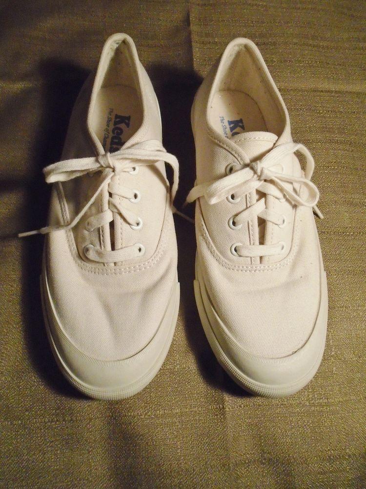 Sz 9.5 Vintage Keds Women's White