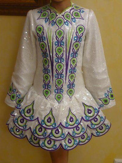 44213ba565a487 Irish Dance Solo Dress. I like the layered