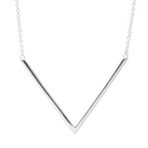 sterling silver v necklace
