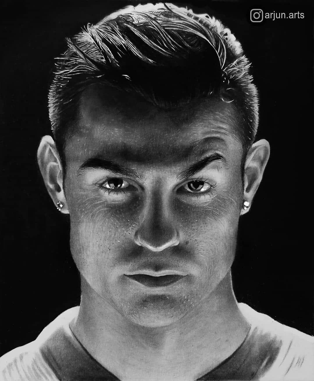 Art by arjun.arts • • • • • • Manjeri Cristiano Ronaldo