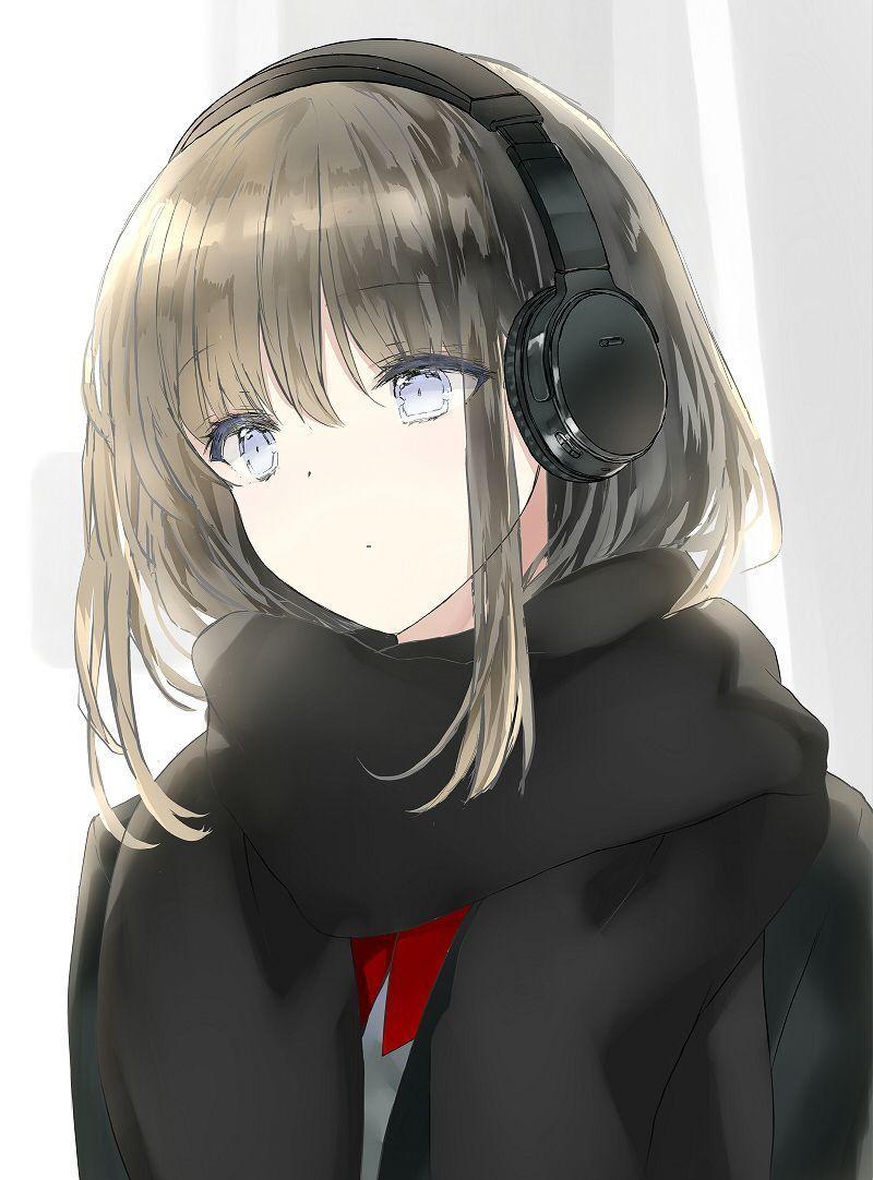 Headphone Anime Em 2020 Menina Anime Menina Bonita Anime Menina Gata De Anime