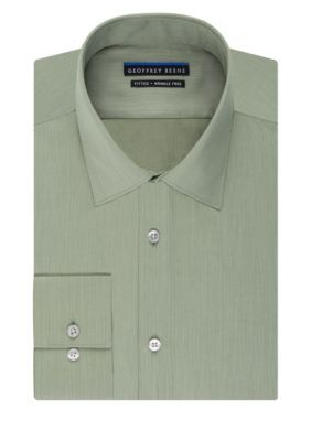 Geoffrey Beene  Wrinkle Free No-Iron Fitted Dress Shirt