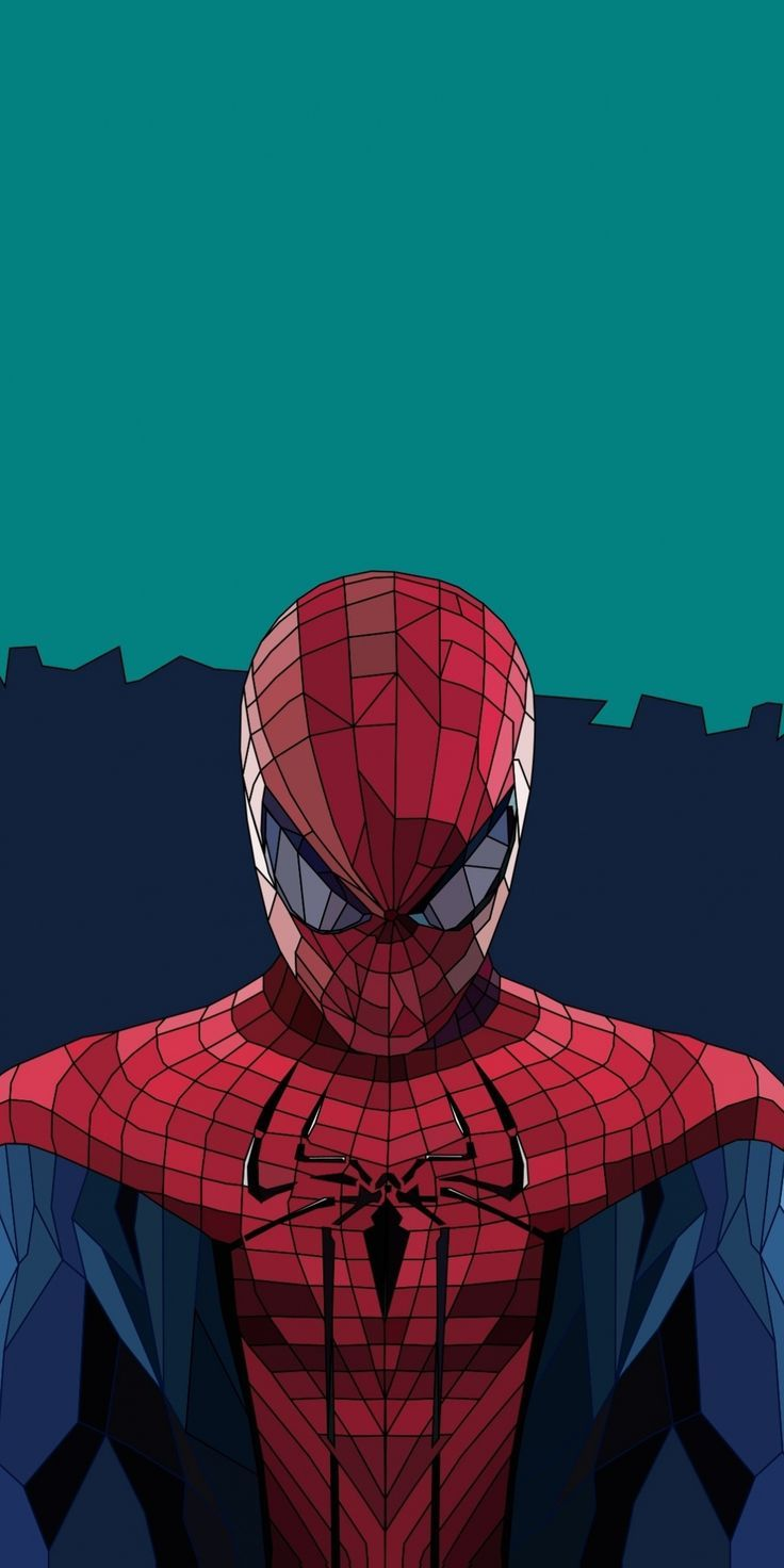 magnificent wallpaper Spiderman low poly art 10802160