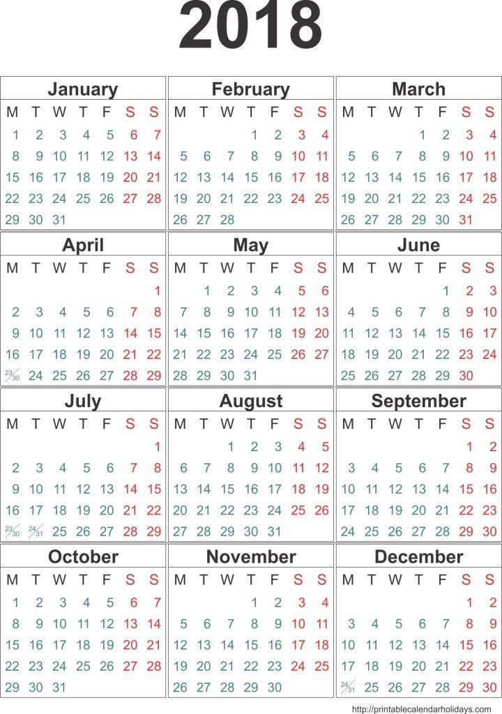 Calendar  Template  MonthsPage