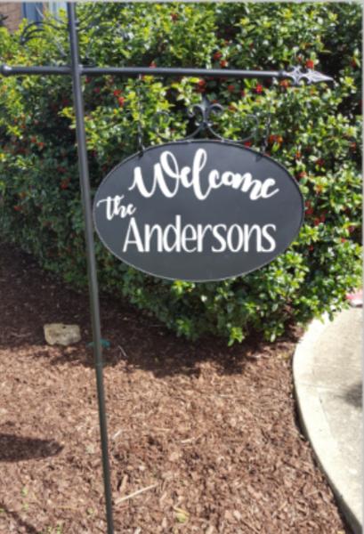 Personalized 10x16 Metal Garden Yard Sign Name Address